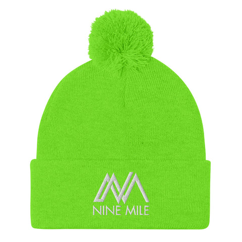 Nine Mile Neon Green Pom-Pom Beanie Hat