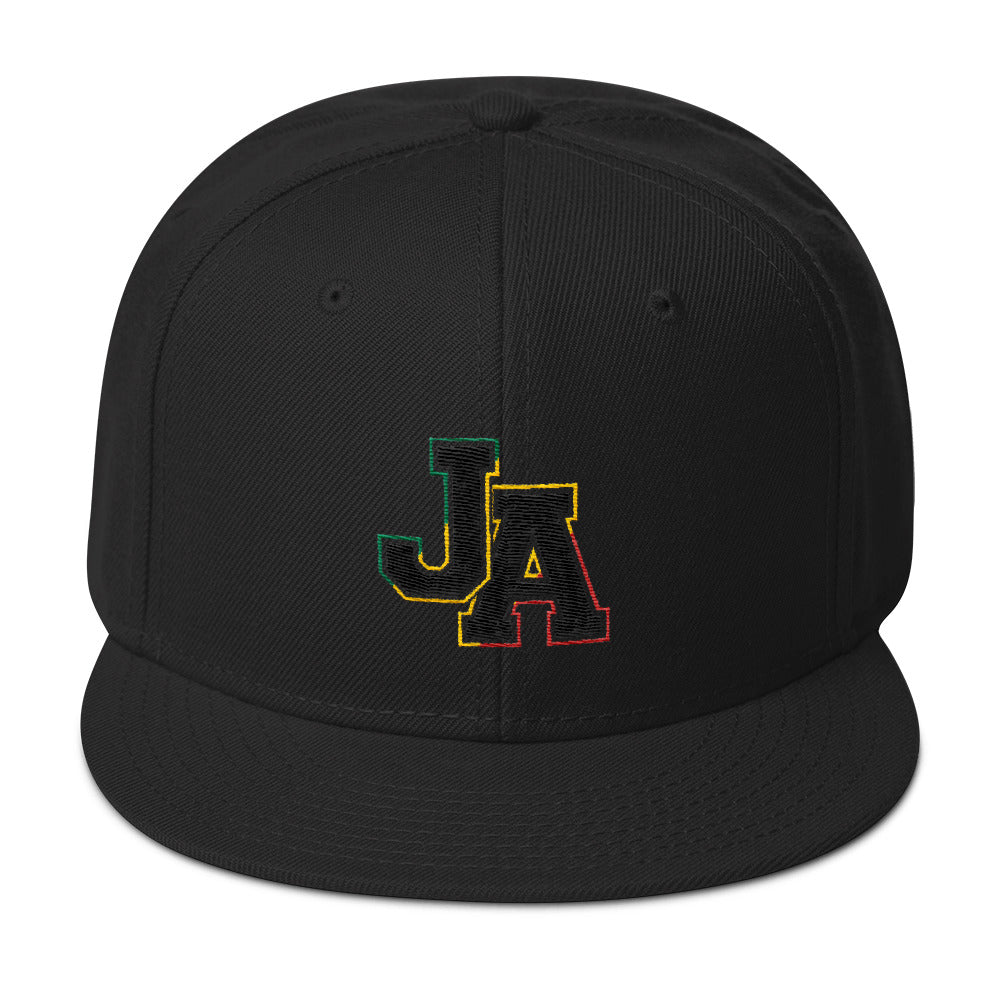 Rasta Coloured JA - Snapback Cap