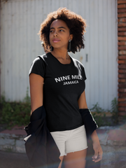 Women Nine Mile Jamaica Plus Black T-shirt