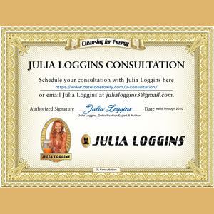 30-Min. Session with Julia Loggins—$75 GIFT TO YOU with $250 Purchase—Book a 15, 30, or 60 Min. Session