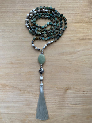 KOSTAL African Turquoise Mala necklace