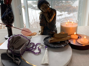 MASAYA Amethyst Mala Necklace for meditation