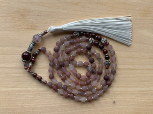 TUYA BERRY QUARTZ MALA NECKLACE