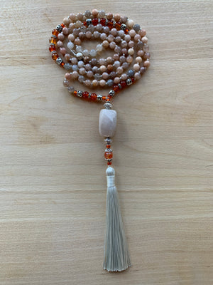 LATUKAN Moonstone mala necklace for meditation