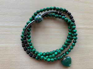MISTASSINI Malachite Mala Twist Bracelet