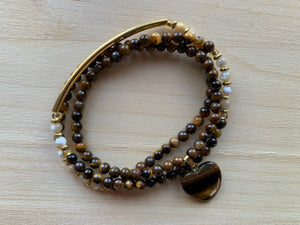 MORAINE Yellow Tiger's Eye Mala Twist Bracelet