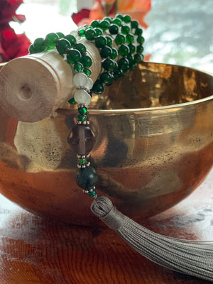 B.C. Jade stone mala necklace for meditation