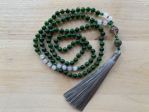 SATAH B.C. Jade stone mala necklace for meditation