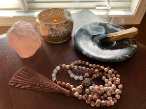 TELICA Crazy Lace Agate Mala necklace