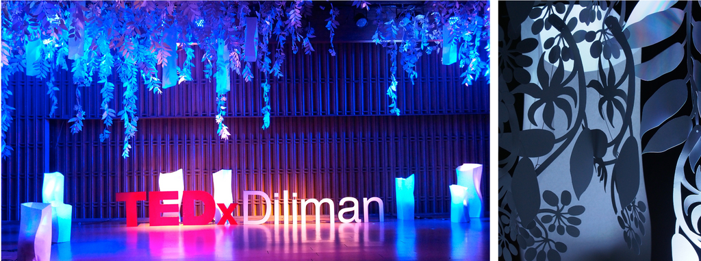 Stage installation by Liza Flores in TEDxDiliman 2017