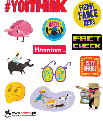 #YouThink: Fight Fake News stickers