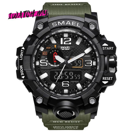Sports Analog Digital Quartz Watch 8868 Green