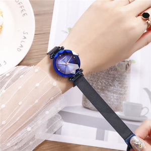 Korean Magnet Watch-Original 6954 Blue Mesh Strap