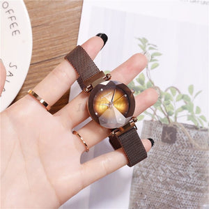 Korean Magnet Watch-Original 6954 Mesh Strap