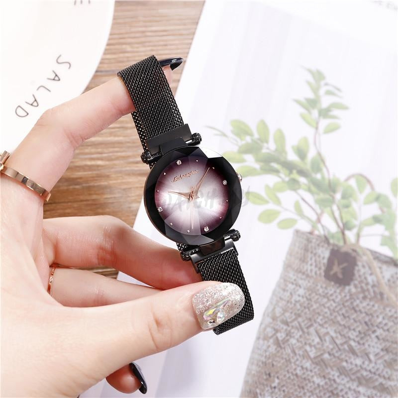 Korean Magnet Watch-Original 6954 Black Mesh Strap
