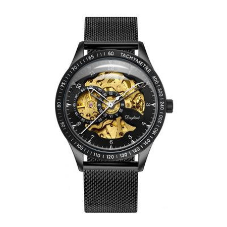 Luxury Mens Machine Watch-Original 5716 Blackgold Mesh Strap