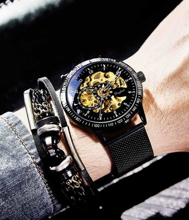 Luxury Mens Machine Watch-Original 5716 Mesh Strap