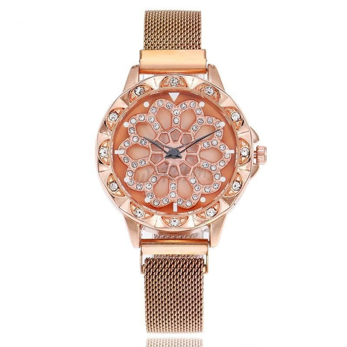Luxury Magnetic Watch 7900 Rosegold Mesh Strap
