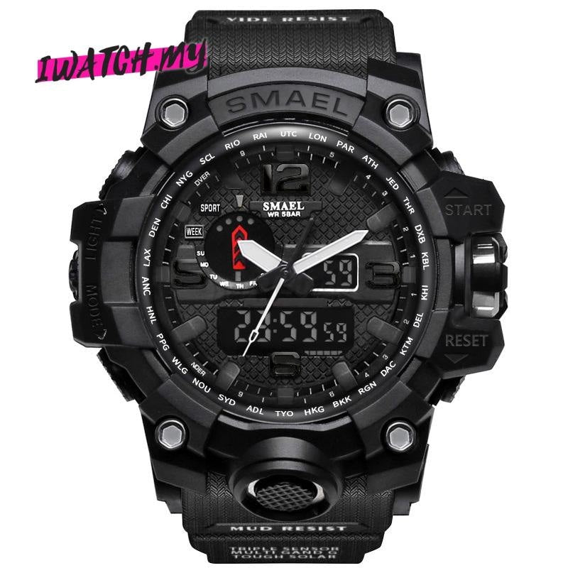 Sports Analog Digital Quartz Watch 8868 Black