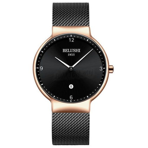 Luxury Ultra Thin Watches-Original 0926 Rosegold Mesh Strap