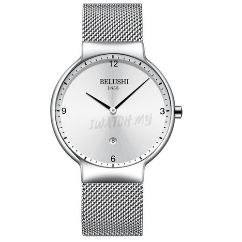 Luxury Ultra Thin Watches-Original 0926 Silver Mesh Strap