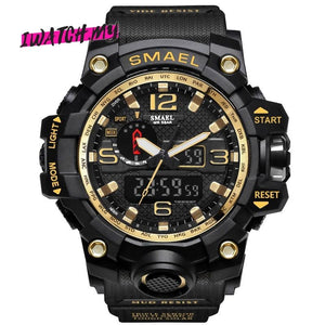 Sports Analog Digital Quartz Watch 8868 Gold