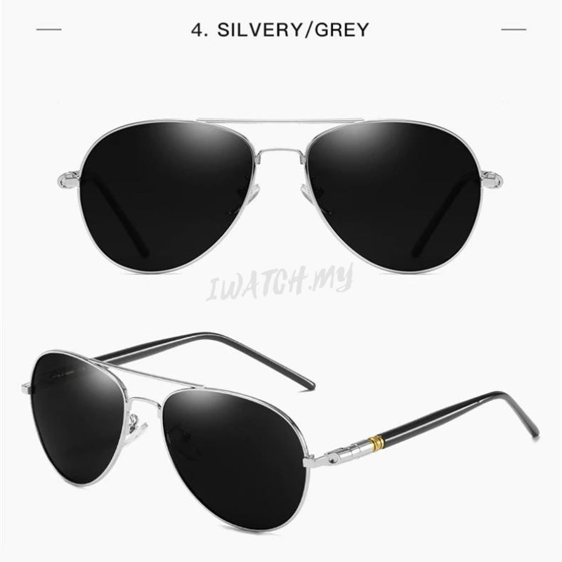 Polarized Photochromic Pilot Sunglasses Silver Apparel & Accessories > Clothing