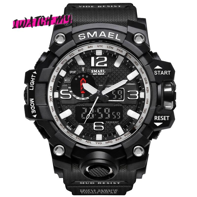 Sports Analog Digital Quartz Watch 8868 Silver