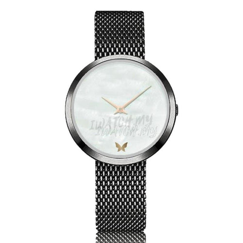 Classic Marble Watch 7494 Black Mesh Strap