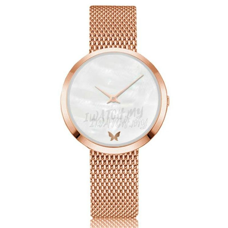 Classic Marble Watch 7494 Rosegold Mesh Strap