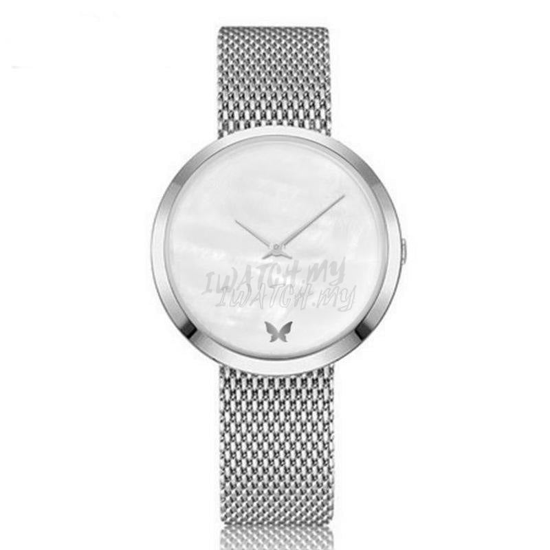 Classic Marble Watch 7494 Silver Mesh Strap