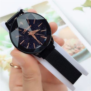 Korean Magnet Watch-Original 2777 Black Mesh Strap