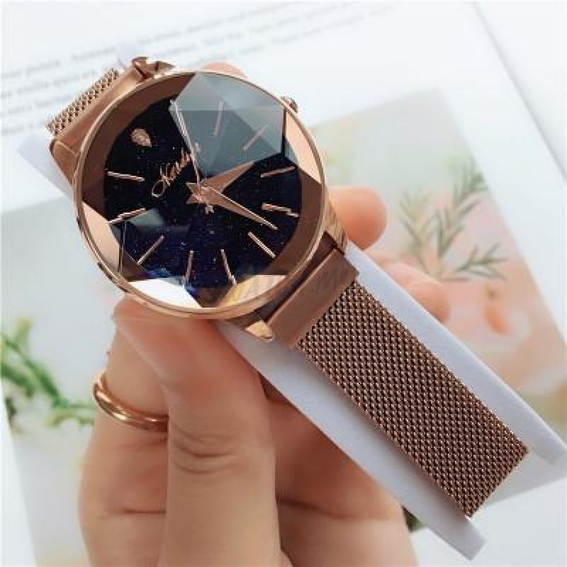Korean Magnet Watch-Original 2777 Rosegold Mesh Strap