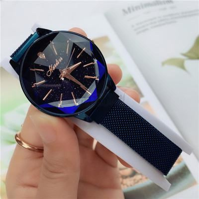 Korean Magnet Watch-Original 2777 Blue Mesh Strap