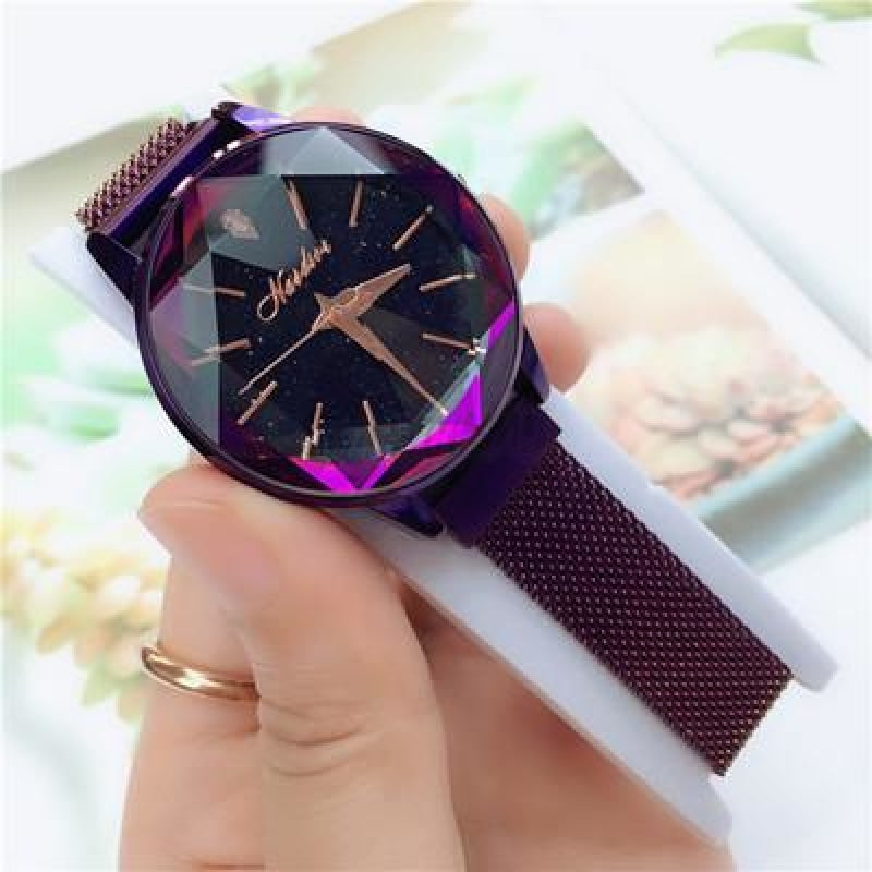 Korean Magnet Watch-Original 2777 Purple Mesh Strap