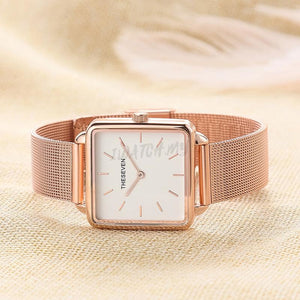 Classic Square Watch 4406 Mesh Strap