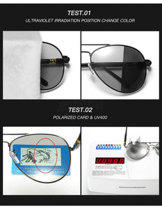 Polarized Photochromic Pilot Sunglasses Apparel & Accessories > Clothing
