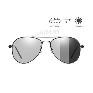 Polarized Photochromic Pilot Sunglasses