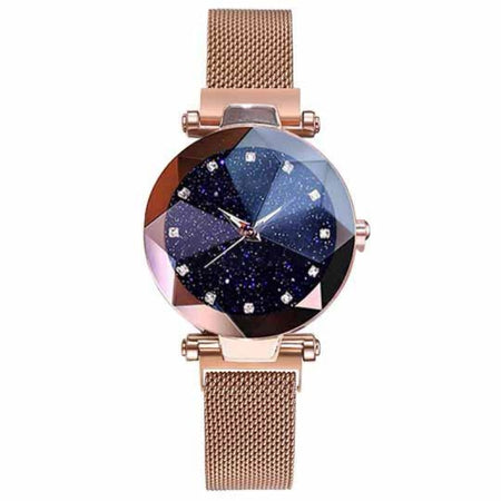Korean Diamond Magnet Watch 9023 Mesh Strap