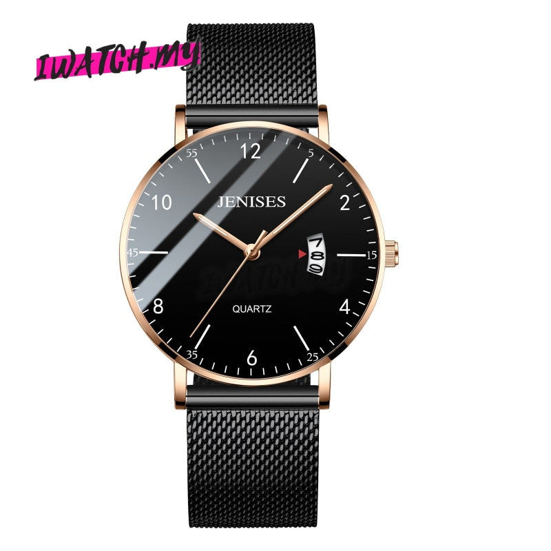 Luxury Mens Quartz Watch-Original 1257 05 Mesh Strap