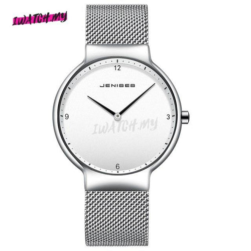 Luxury Ultra Thin Couple Watches-Original 1493 05 / Big Mesh Strap