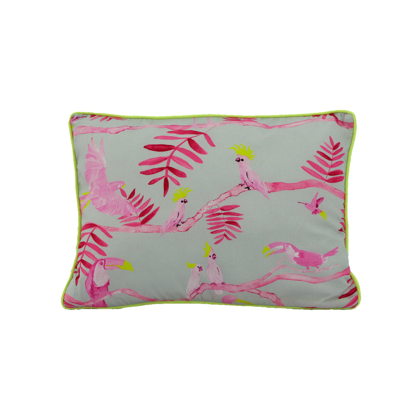 Pantanal Decorative Pillowcase -Pink and Yellow Toucans