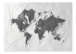 Our world map White & Grey