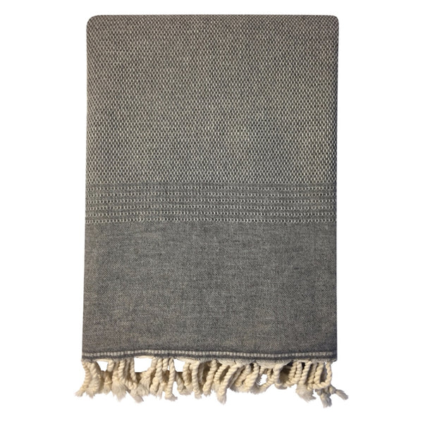 Luxury throw - Eskin charcoal