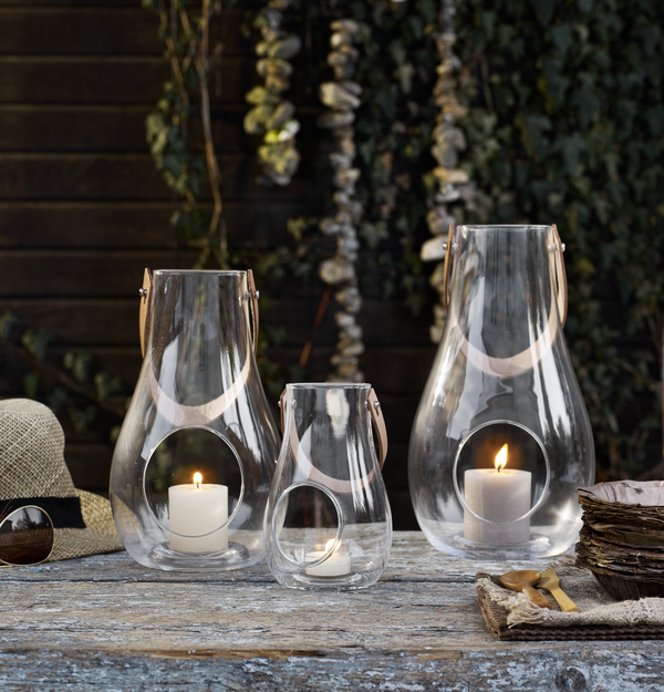 Holmegaard mouth blown lantern (clear)
