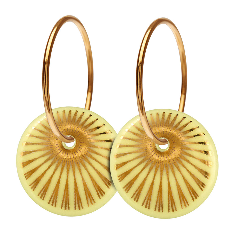 Scherning - SPLASH hoop earrings Limon/Gold