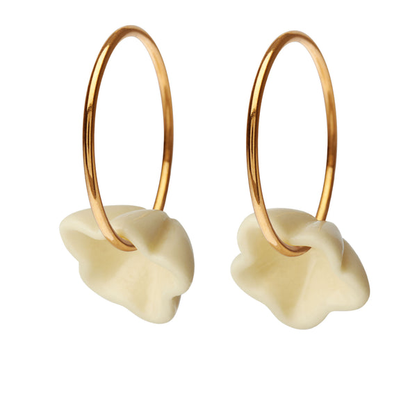 Scherning - Tinkerbell hoop earrings, White