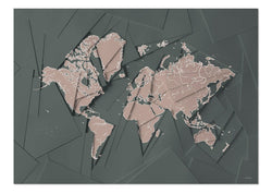Our world map Green & Grey