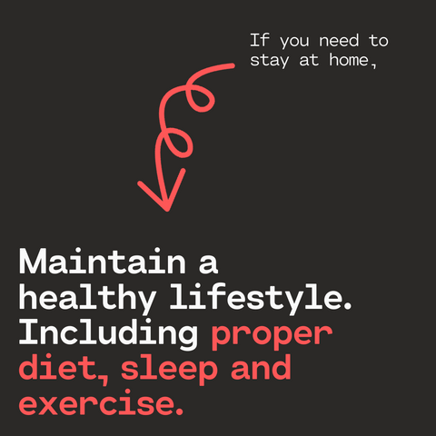Maintain a healthy life