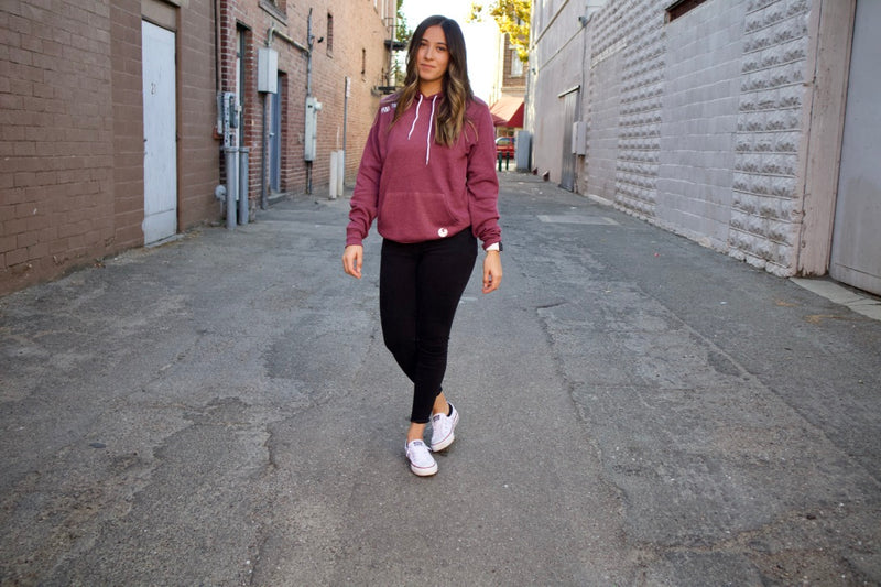 Peak Athleisure Adventure Hoodie Burgundy 2